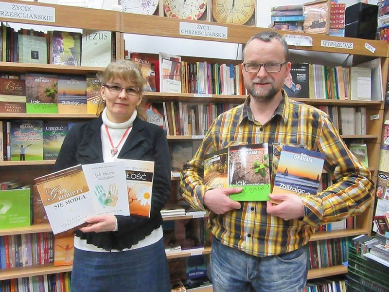 Ewa and Tomasz with published books