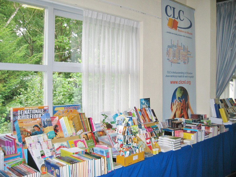 CLC Netherlands book table at conference