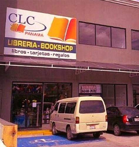 Panama Via Espana bookshop with van