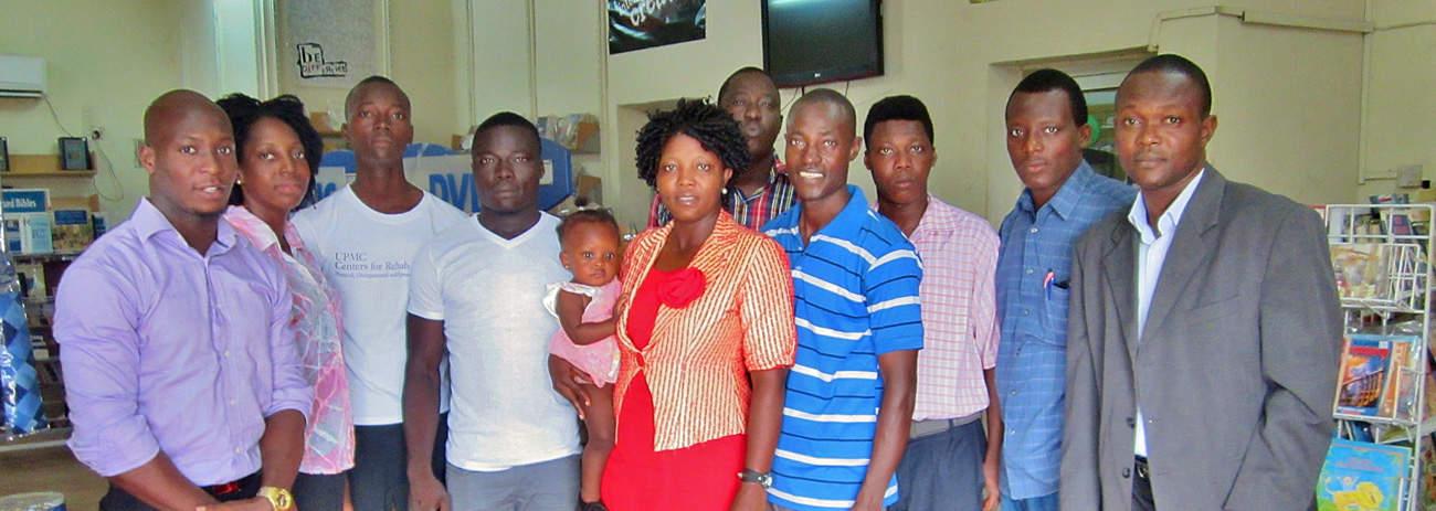 Sierra Leone volunteers and staff Bevin Scott, Laivina Kamara, Alie Kam
