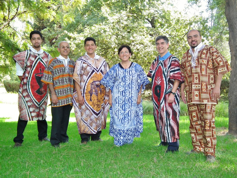 CLC Chile staff in African costume